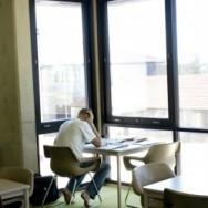 Smart student studying