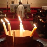 Candles in a church service
